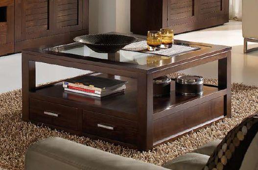 Mesa de centro 120x120 for Mesas de centro color cerezo